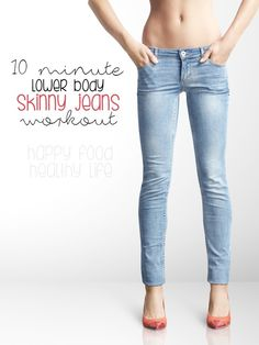 This 10-Minute Lower Body Skinny Jeans Workout will get both your cardio and your lower body working. It's a great quick workout that totally works the booty and legs.