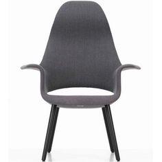 Vitra organic high back Eero Saarinen, Charles Eames, Pebble Grey, Design Within Reach, Museum Of Modern Art, Blue Ivory, Home Furnishings, Armchair