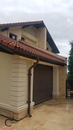 Proiect Casa Rezidentiala Arges – Profile Decorative House Front Design, Facade House, Design Case, Home Interior Design, Pergola, Exterior, Outdoor Structures, Windows, Outdoor Decor