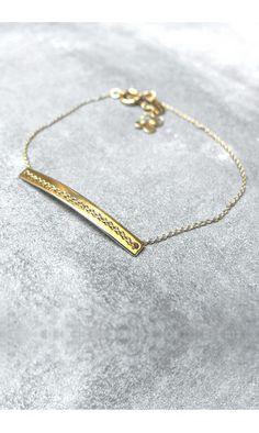 Trois Petits Points bracelet Gourmette #troispetitspoints #bacelet #goldplated