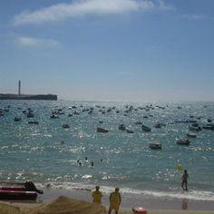Beautiful beach of Cadiz, Spain