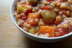Persian Split Pea & Barley Stew - Moosewood Low-Fat Favorites Cookbook