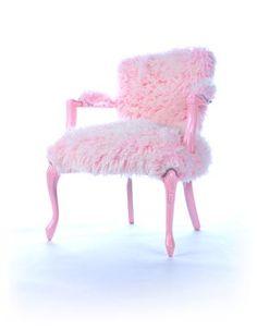 Pink Fur Chair
