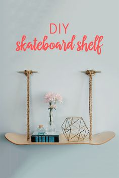 This DIY Skateboard Shelf will add some edge to your little one's bedroom. With a skateboard deck and some rope, you'll have a unique touch of style that will never go out of style.