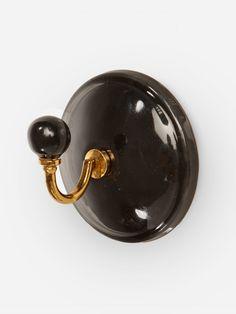 Gancho de Ceramica Elian Preto   Collector55 - Collector55