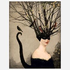 Catwoman by Catrin Welz-Stein, $24, now featured on Fab.