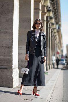 Leandra Medine in VEDA leather jacket - HarpersBAZAAR.com