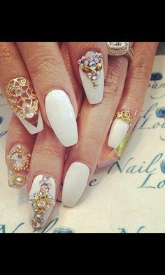 Uñas Sexy Nails, Dope Nails, Fancy Nails, Fabulous Nails, Gorgeous Nails, Pretty Nails, French Nails Glitter, Nail Ring, Nail Candy