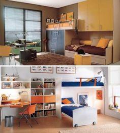 Prácticos muebles para dormitorios de niños - DecoraHOY
