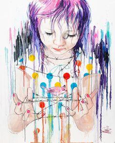 25 yaşındaki sanatçı Lora Zombie, gerçeğinden ayırt edilmesi zor ve başarılı sulu boya çalışmalarıyla hafızalarda yer edindi.