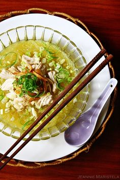Goddess Of Scrumptiousness • Rainy Days and Soup Comfort : Asian Glass Noodle Chicken Soup