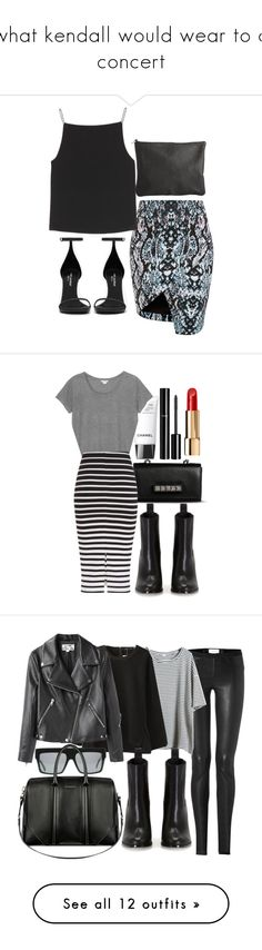 """what kendall would wear to a concert"" by tayapayne ❤ liked on Polyvore featuring T By Alexander Wang, Yves Saint Laurent, Pieces, Chanel, Monki, Valentino, Issa, Helmut Lang, Acne Studios and Retrò"