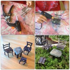 DIY Fairy Garden Furniture | DIY - fairy garden furniture | Craft Ideas and DIY #fairyfurniture