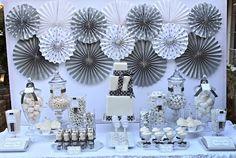 Silver and White 25th Birthday {25th Birthday Ideas}. Found via TipJunkie.com