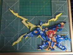 Erza Scarlet - Fairy Tail  Perler beads by TehMorrison