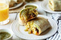 Avocado & Steak Breakfast Burritos with Salsa Verde - (Free Recipe below)