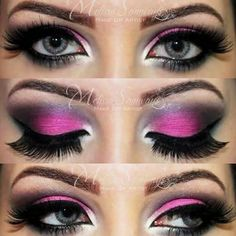 This warm pink dramatic eye makeup is sure to make you of attention! Perfect for prom.