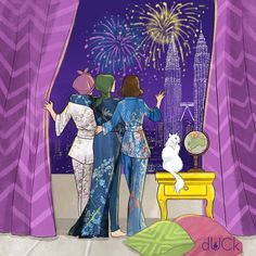The perks of living in the busy town of KL, the fireworks are so clear and lively. We decided to have a girls night in and Carey bought all of us fancy pyjamas to wear to welcome 2016. HAPPY NEW YEAR, LOVELIES!!! May this year be filled with happiness and more dUCks! - D. #duckscarves #duckstationery #friendship