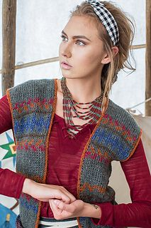Tunisian crochet (tc) Eagle Vest by Rohn Strong Interweave Crochet Fall 2014