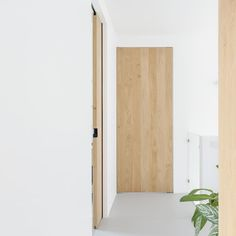 Deze houten schuifdeuren worden op maat gemaakt voor plafond-rails of nis-rails en passen daarmee perfect in moderne, minimalistische interieurs. Modern Industrial, White Wood, Bathroom Medicine Cabinet, Tall Cabinet Storage, My House, Minimalism, New Homes, Carving, Doors