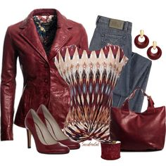 """Jeans and Leather Jacket"" by sassafrasgal on Polyvore"