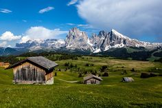 Seiser Alm in the Dolomites, Italy.