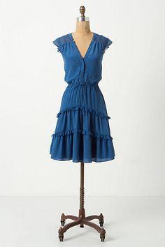 Arched Careena Dress #anthropologie  I know I don't need another blue dress, but I needed this -sorry credit card..