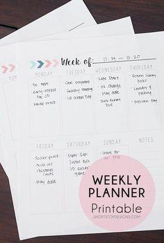 Weekly Planner Printable - Free Printable - Calendar Printable