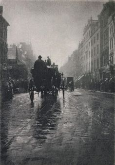 Oxford Street on a rainy day London 1897