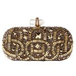 Marchesa Gold Embroidered Clutch