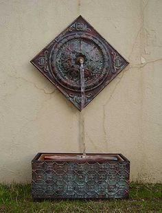 Wall fountains.