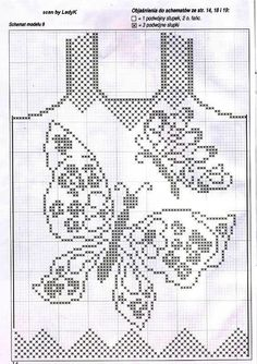 crochet filet - butterflies top!