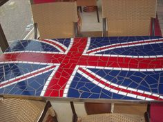 British Flag Table. this will probably be my kitchen table when i grow up