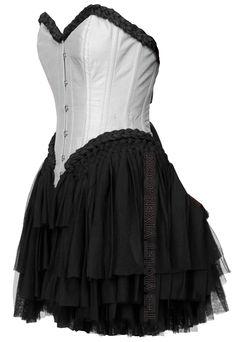 The Violet Vixen - Can-Can Corset Dress White, $192.00 (http://thevioletvixen.com/clothing/can-can-corset-dress-white/)