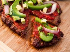 Mexican Meatza  I've had gluten-free pizza delivered from lots of pizza joints in Austin – gluten-free, not grain-free, so it still falls into 'treat' territory – and you know what? This Meatza...