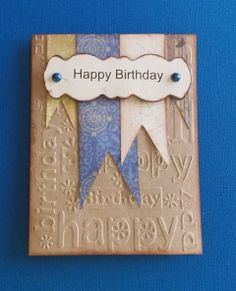 Daily Grace Creations: Two Masculine Birthday Cards