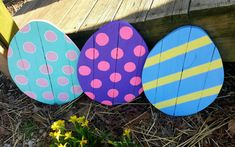 Check out this item in my Etsy shop https://www.etsy.com/listing/514866825/easter-decor-wooden-easter-egg-outdoor