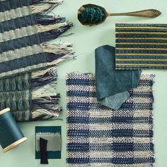 Mint, green and blue textile moodboard, design concept by Line Nilsen Creative Textiles, Textile Texture, Weaving Textiles, Concept Board, Textile Artists, Weaving Techniques, Dobby, Textile Design, Hand Weaving