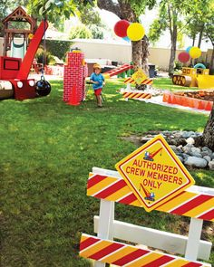 outdoor construction birthday party decorations