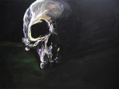 Fred Calmets, Night & Green, 130 cm x 97 cm, Technique mixte, 2010 ©