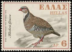 Stamps showing Rock Partridge Alectoris graeca, with distribution map showing range Partridge, Postage Stamps, Greece, Birds, Rock, Gallery, Animals, Image, Andorra