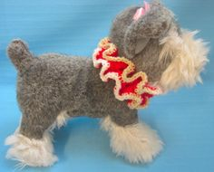 Pet Ruffle Collar Dog Cat Holiday by HandCraftedByBren on Etsy