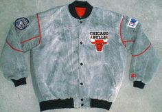 Vtg Rare Acid Wash 90's CHICAGO BULLS Starter Jacket