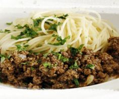 Mince Beef Spaghetti with Indonesian spices