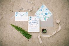 garden wedding invitations - photo by Martina Wendland http://ruffledblog.com/springtime-greenhouse-wedding-inspiration