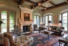 images of kara childress interior design | ... , gorgeous rug and furniture, fireplace | Kara Childress Inc