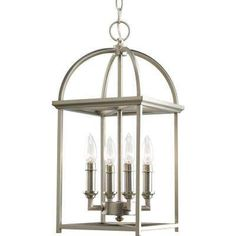 Piedmont Collection 4-Light Burnished Silver Foyer Pendant