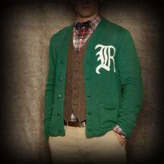 ラルフローレンラグビー メンズ ニット Ralph Lauren Rugby Cotton Varsity Cardigan カーディガン-アバクロ 通販 ショップ-【I.T.SHOP】