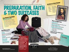 #Mormon Newsroom infographic about how soon-to-be LDS #missionaries prepare for the mission field.