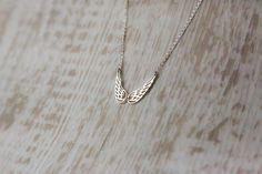 Sterling Silver Angel Wings Necklace Gift for by IvyStoneCreative